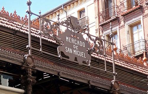 Letrero del Mercado de San Miguel
