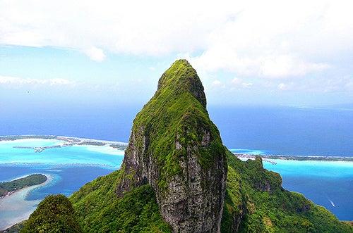 Vista desde el monte Pahia en Bora Bora