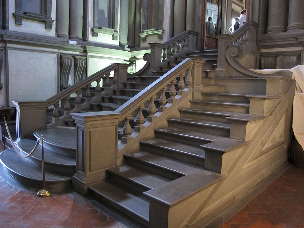 Escalera de la Bibiliteca Laurenziana de Miguel Ángel