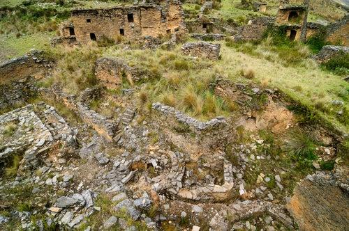 Ruinas de Yarowilca en Perú.