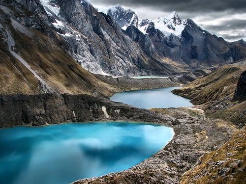 Cordillera de Huaihuash en Perú.