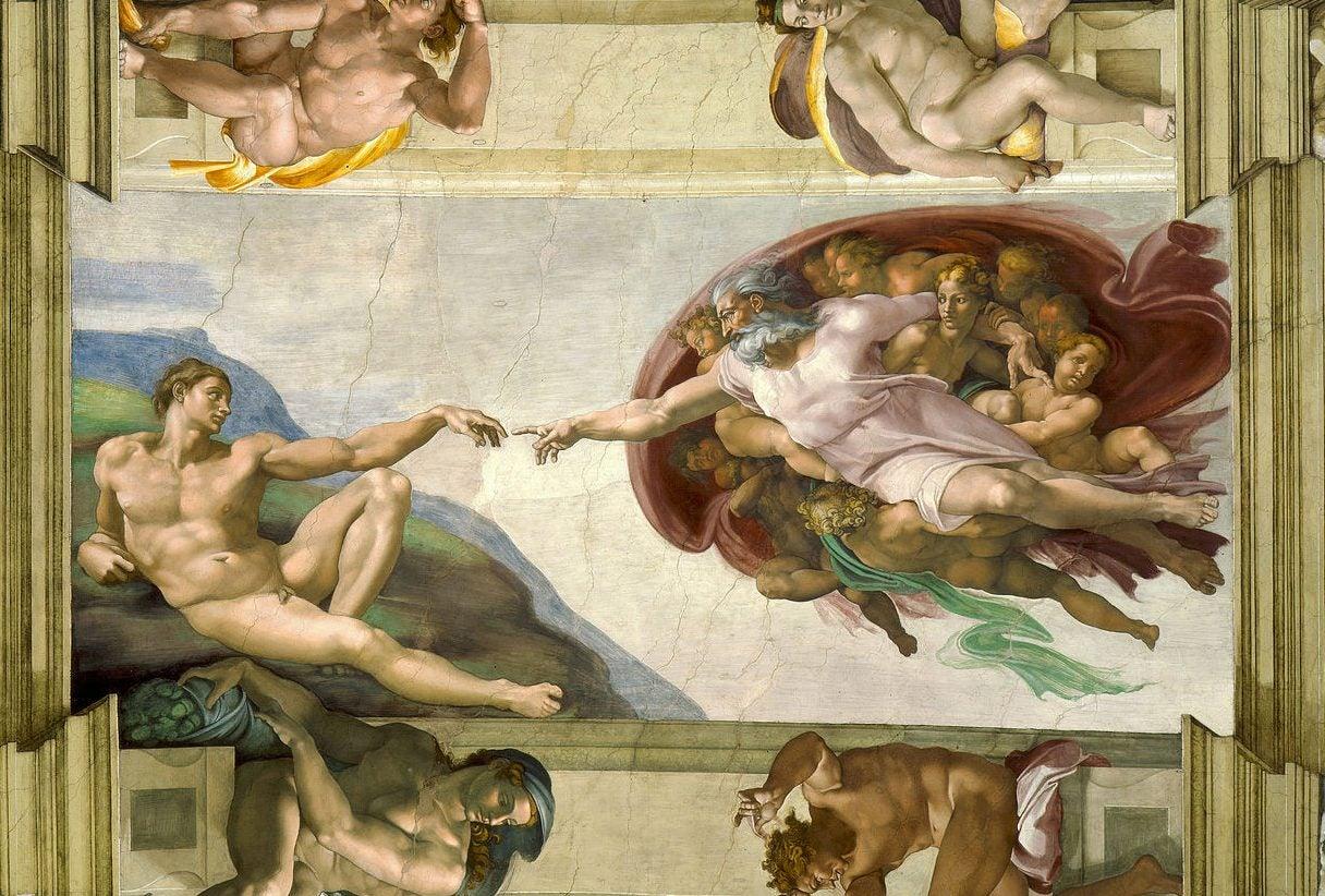 Creación de Adán de Miguel Ángel