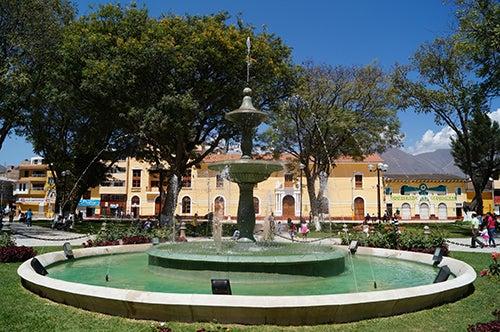 Plaza de Armas de Hunuco en Perú.
