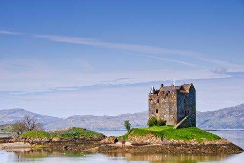 Castillo de Stalker en Escocia