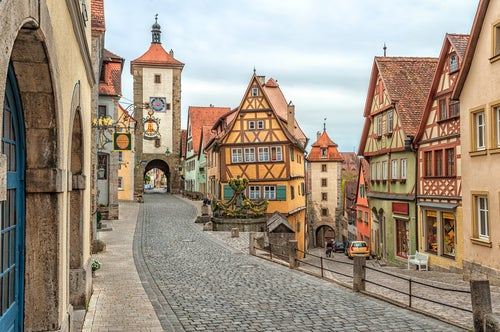 Calle de Rothenburg ob der Tauber
