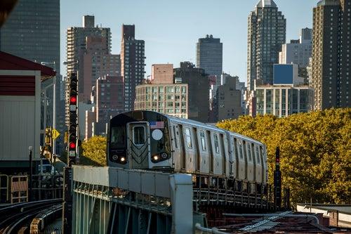 Tren en Nueva York