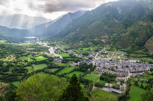 Valle de Benasque en el Pirineo aragonés