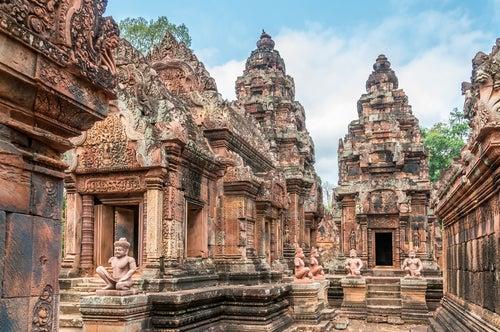 Edificios de Angkor Wat en Camboya