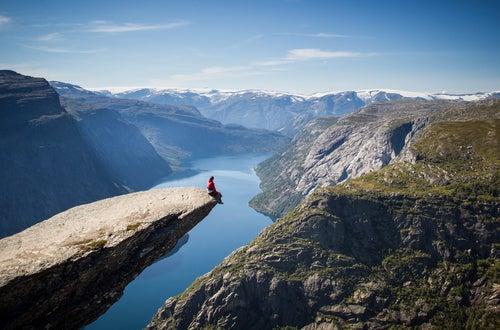 Vista de Trolltunga en Noruega