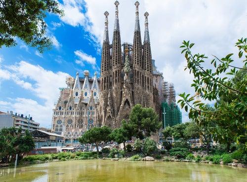 Sagrada Familia, parada del fin de semana en Barcelona