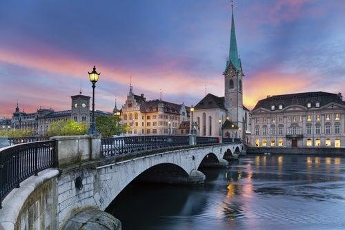Atardecer en Zurich