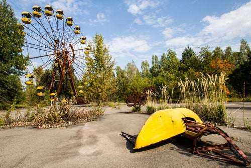Noria abandonada en Pripyat