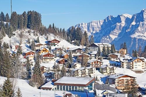 Vista de los Alpes suizos