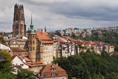 Vista de la catedral de Friburgo
