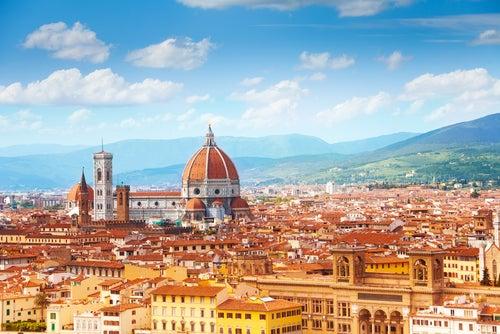 Vista de Florencia en la Toscana