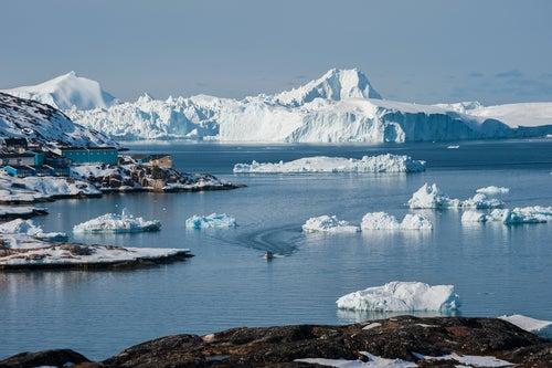 Fiordo Ilulissat en Groenlandia