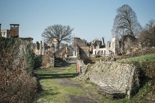 Casas abandonadas en Oradour-sur-Glane