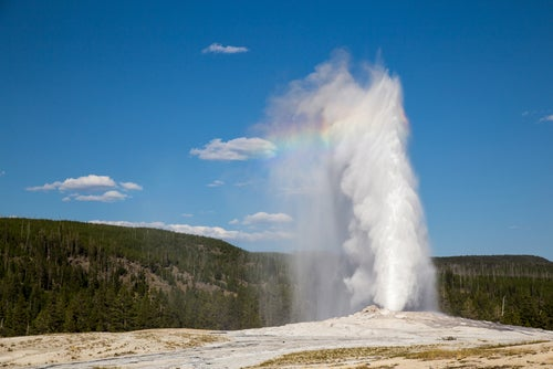 Géiser Old Faithful en Yellowstone