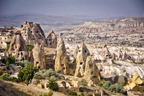 Paisaje lunar en Capadocia
