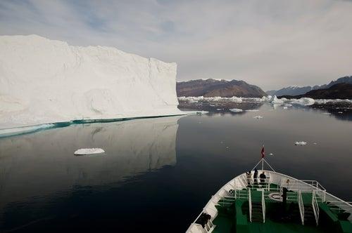 Fiordo Scoresby Sund en Groenlandia