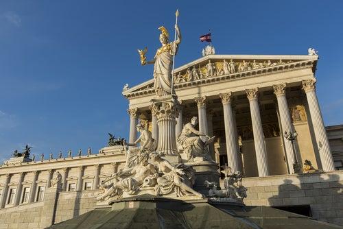 Edificio del Parlamento en Viena