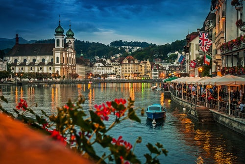Vista de Lucerna en Suiza
