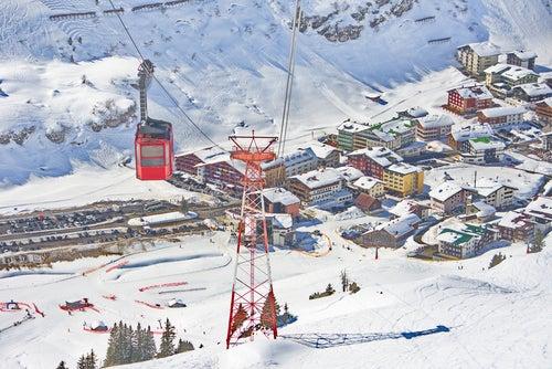 Teleférico en Arlberg