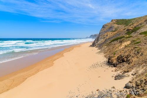 Playa de Castelejo en el Algarve