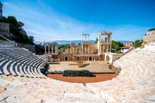 Anfiteatro en Plovdiv en Bulgaria