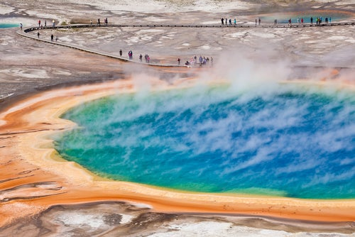 Grand Prismatic Spring en Yellowstone