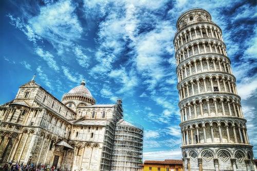 Ciudad de Pisa en la Toscana
