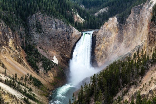 Cataratas en Yellowstone
