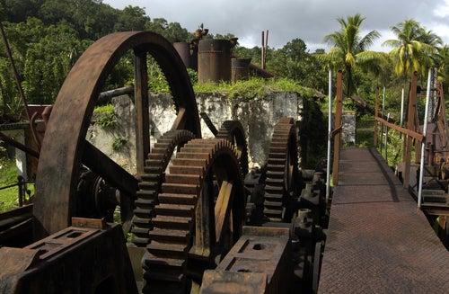 Antigua destilería de ron en Barbados