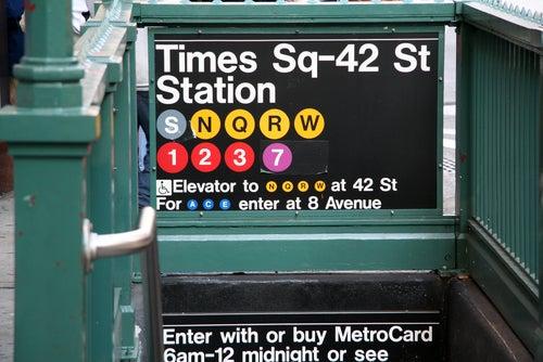 Cartel del metro de Nueva York