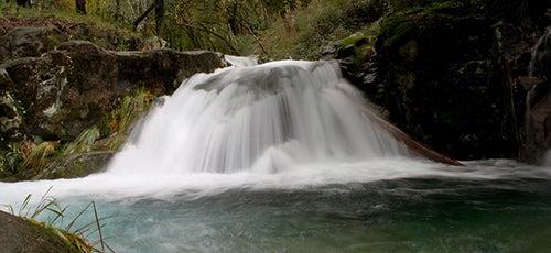 Pozo Bastón en el río Té