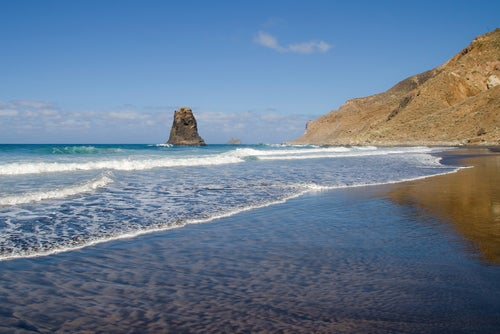 Arena en la playa de Benijo