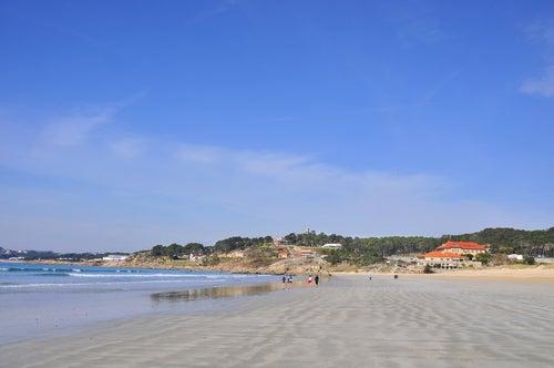 Playa de A Lanzada en Galicia