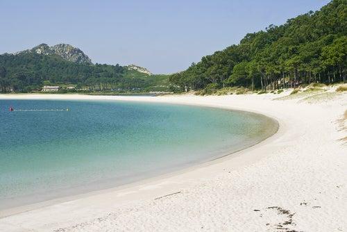 Playa da Rodas en Galicia