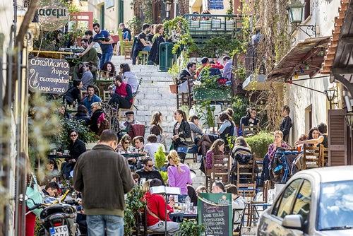 Calle Mnisikleous en Atenas