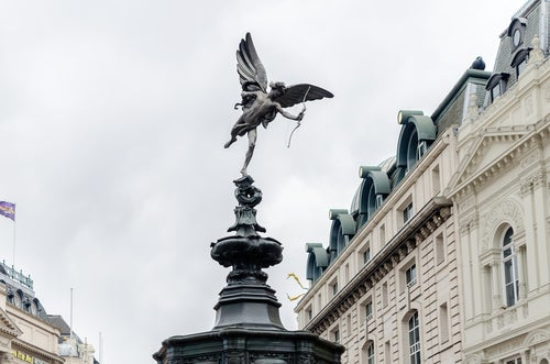 Estauta de Eros en Piccadilly Circus