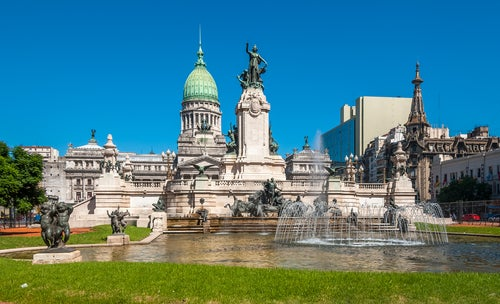 Edificio del Congreso en Buenos Aires