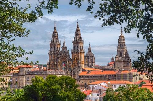 Paseando por las calles de Santiago de Compostela