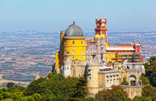 Vista de Sintra en Portugal