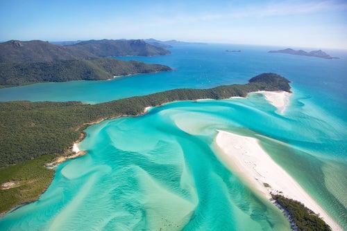 Playa en las islas Whitsundays de Australia