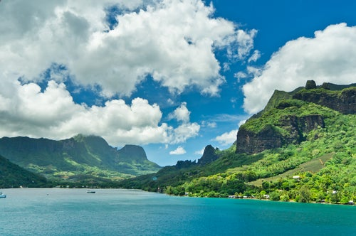 Bahía de Cook en Tahití