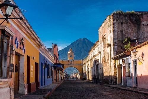 Vista de Antigua en Guatelama