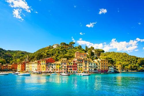 Portofino en la Riviera Italiana