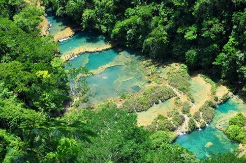 Cascadas de Semuc Champei en Guatemala