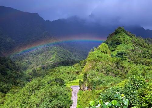 Paisaje interior de Tahití
