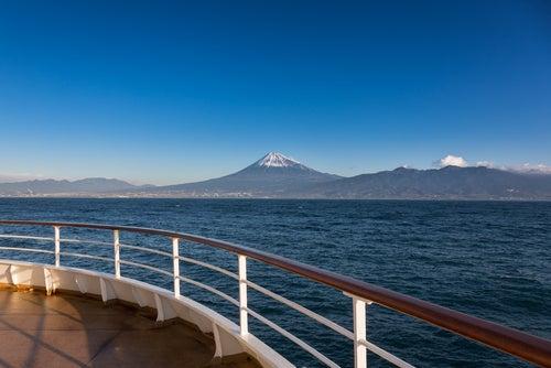 Monte Fuji desde uncrucero
